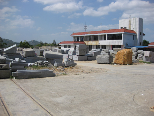 石材加工工場外観